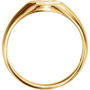 Men's 14k Yellow Gold Diamond Journey Ring (.08 Ctw, G-H Color, I1 Clarity) Size 11.5