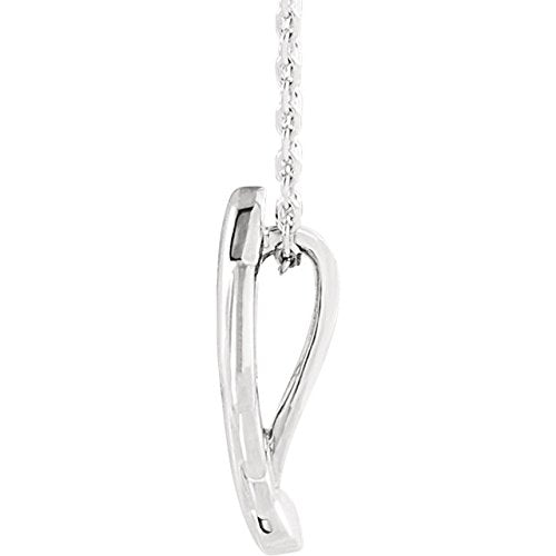 Journey Leaf Necklace, Rhodium-Plated 14k White Gold, 18""