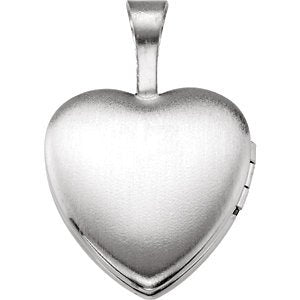 Children's First Communion Heart Sterling Silver Locket (12.50X12.00 MM)