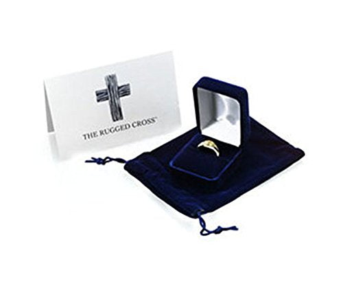 Men's 14k White Gold 'The Rugged Cross' Chastity Ring, Size 9