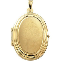 14k Yellow Gold Oval Locket