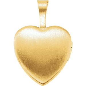 Girl's 14k Yellow Gold Plated Sterling Silver 'Mi Bautizo' Latin Cross Heart Locket Pendant
