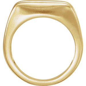 Two-Tone Men's Ring, 18k Yellow and Platinum Size 10.75