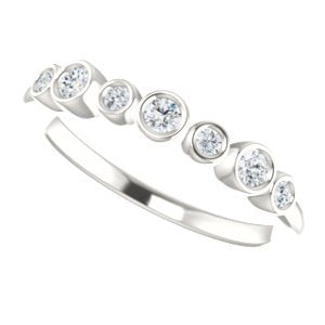 Platinum 7-Stone Diamond Ring (.08 Ctw, G-H Color, SI2, SI3 Clarity)