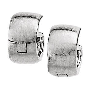 14k White Gold Hoop Earrings (11.5mm)