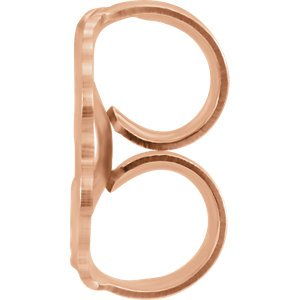 14k Rose Gold Diamond Letter 'H' Initial Stud Earring (Single Earring) (.07 Ctw, GH Color, I1 Clarity)