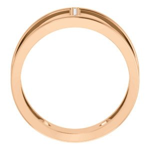 Diamond Negative Space Ring, 14k Rose Gold, Size 7 (.04 Ctw, G-H Color, I1 Clarity)