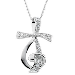Sterling Silver Sing for Joy Treble Pendant Necklace, 18""