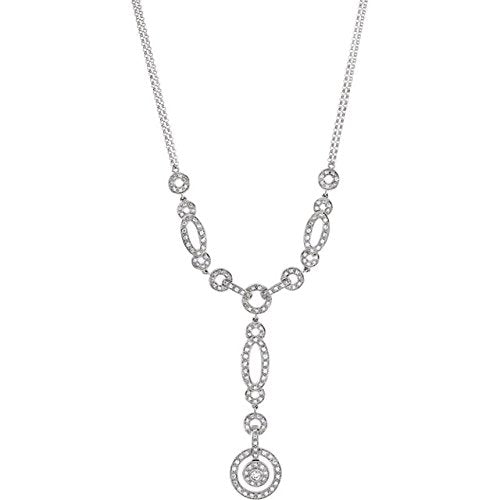 14k White Gold 1 Cttw. Diamond Necklace