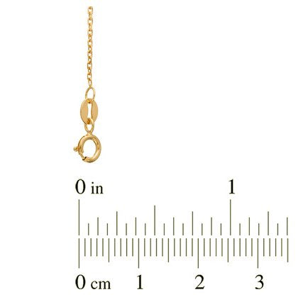 "5-Stone Diamond Letter 'C' Initial 14k Yellow Gold Pendant Necklace, 18"" (.03 Cttw, GH, I1)"