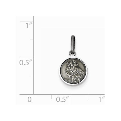 Sterling Silver St. Christopher Medal (18X10MM)