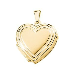 Childrens 14k Yellow Gold Petite Heart Locket