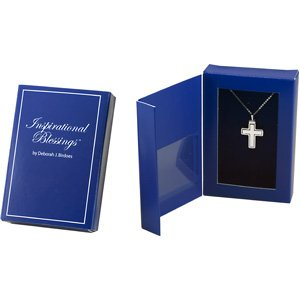 Sterling Silver Embossed Cross of Faith Pendant Necklace 18""