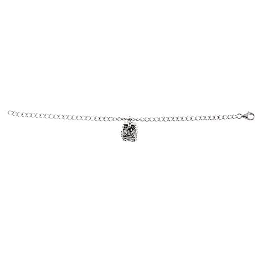 Sterling Silver 'Letting Go' Cross Locket Bracelet
