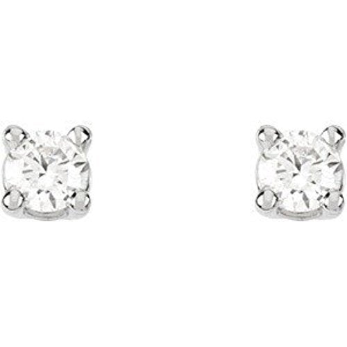 1/3 Ct 14k White Gold Diamond Stud Earrings (.33 Cttw, GH Color, SI1 Clarity)
