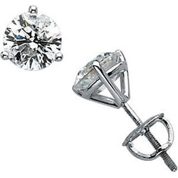1 Ct 14k White Gold Diamond Stud Earrings (1.00 Cttw, GH Color, SI2-SI3 Clarity)