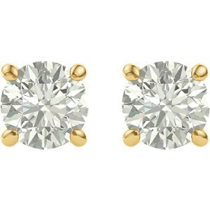 Charles & Colvard Forever Classic Moissanite Solitaire Earrings, 14k Yellow Gold (5MM)