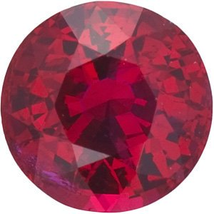 Platinum Ruby Inset Cross Pendant (22.65x11.4MM)