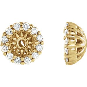 Diamond Cluster Earring Jackets, 14k Yellow Gold (3.6MM) (0.125 Ctw, G-H Color, I2 Clarity)