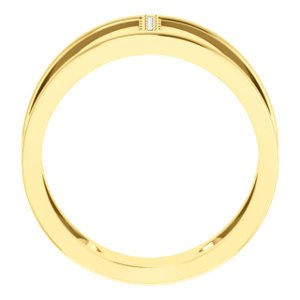 Diamond Negative Space Ring, 14k Yellow Gold, Size 7 (.04 Ctw, G-H Color, I1 Clarity)