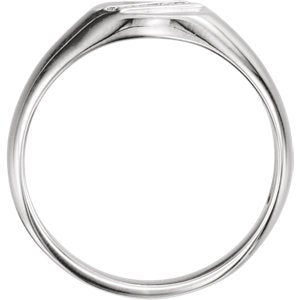 Men's Platinum Diamond Journey Ring (.08 Ctw, G-H Color, SI2-SI3 Clarity) Size 10.75