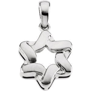 Sterling Silver Star of David Pendant (23x17.5 MM)