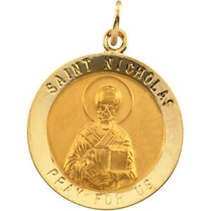 14k Yellow Gold St. Nicholas Medal (18.25MM)