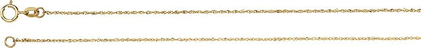 .50mm 14k Yellow Gold Diamond Cut Singapore Chain Bracelet, 7""