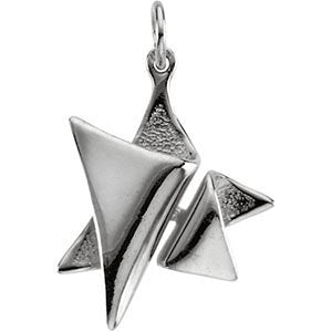 Elegant Star of David Sterlin Silver Pendant (Made in Holy Land)