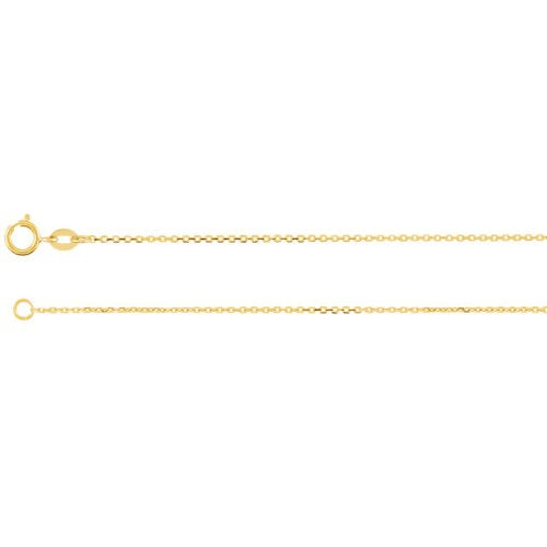 "14k Yellow Gold Diamond Initial 'H' 1/6 Cttw Necklace, 16"" (GH Color, I1 Clarity)"