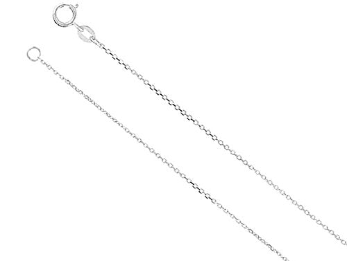Men's Cross Ash Holder Necklace, Rhodium Plate Sterling Silver, 20""