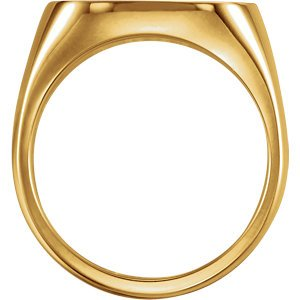 Men's Closed Back Square Signet Ring, 18k Yellow Gold (10mm)