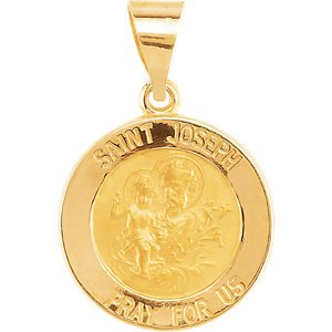 14k Yellow Gold Joseph Medal(15 MM)
