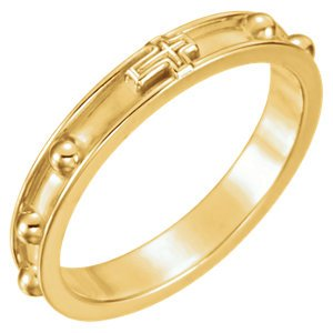 Rosary Ring 3.25mm 18k Yellow Gold