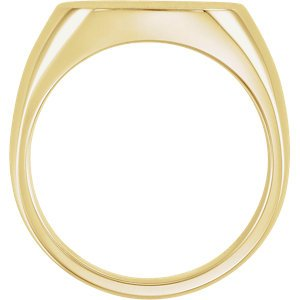 Men's Closed Back Square Signet Ring, 14k Yellow Gold (10mm)