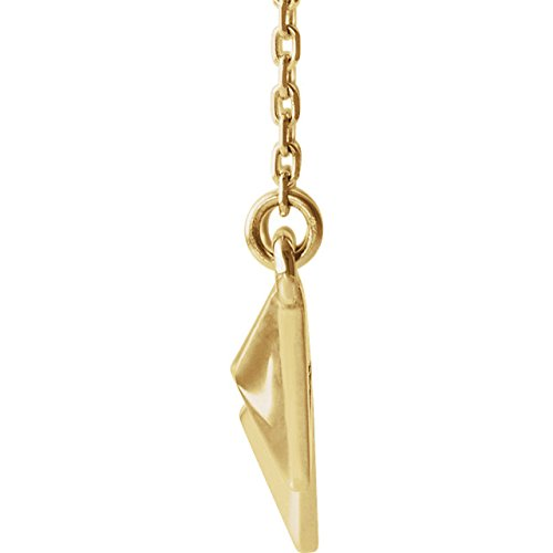 Geometric Pyramid Necklace, 14k Yellow Gold 16-18""
