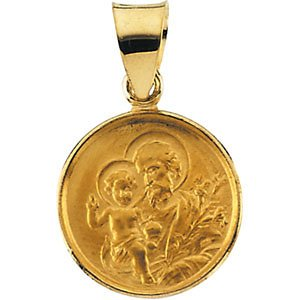 18k Yellow Gold St. Joseph Medal (13 MM)