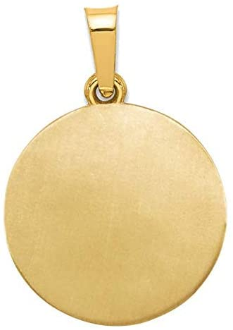 14k Yellow Gold Our Guardian Angel Medal Pendant (17X15MM)