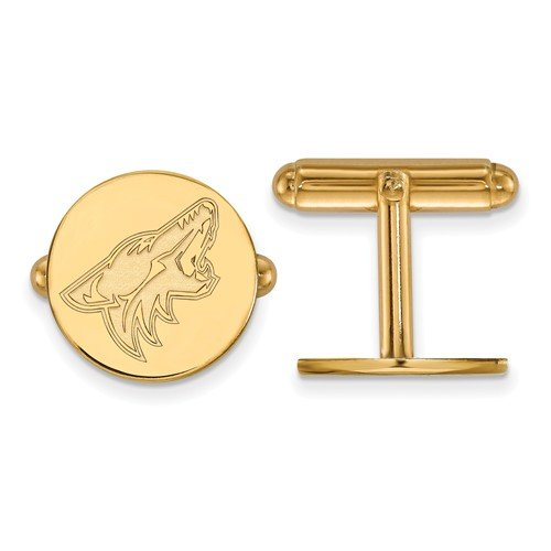 Gold-Plated Sterling Silver NHL Phoenix Coyotes Cuff Links, 15MM