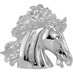 10k White Gold The Magnificent Lipizzaner Horse Head Pendant