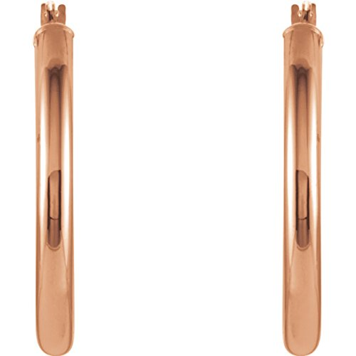 Oval Hoop Earrings, 14k Rose Gold (20mm)
