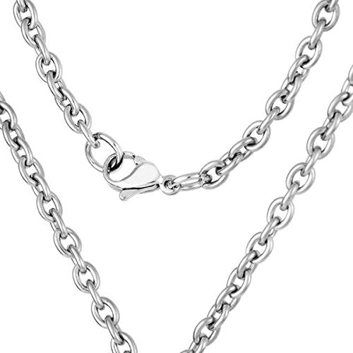 Men's Two-Tone, Antiquing Black CZ Dog Tag Pendant Necklace, Stainless Steel, 24""