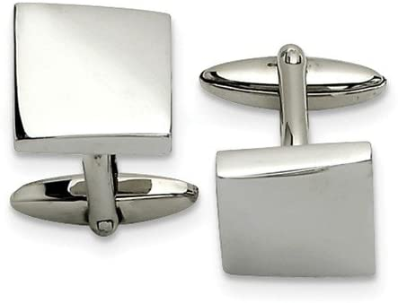 Stainless Steel Square Cuff Links, 13X15MM