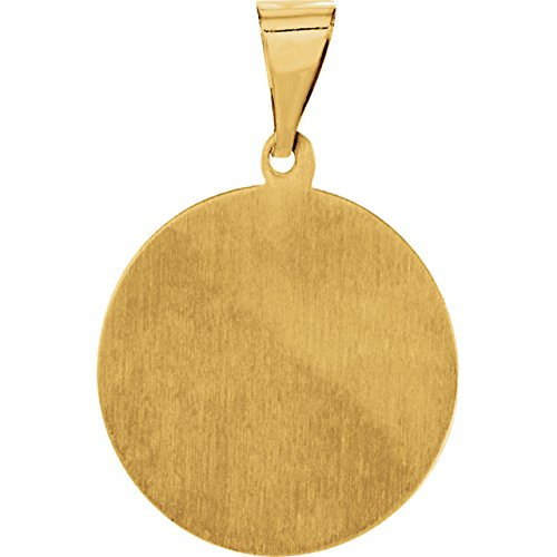 14k Yellow Gold St. Rocco Hollow Medal Pendant (21.3X18.7MM)
