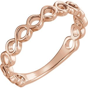 Infinity-Inspired Stackable Ring, 14k Rose Gold