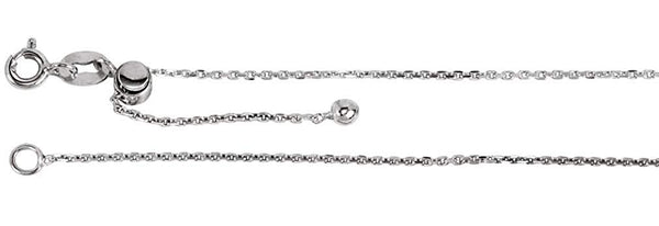 Adjustable Cable Chain .95mm Sterling Silver, 22''
