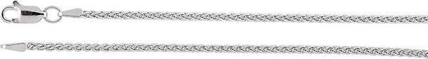 1.8mm Sterling Silver Wheat Chain, 18""