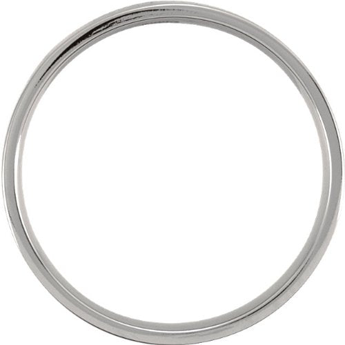 Titanium 4mm Comfort Fit Flat Band, Size 6