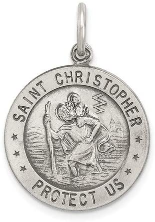 Sterling Silver St. Christopher Soccer Medal (23X18MM)
