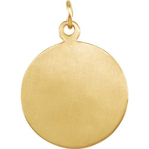 14k Yellow Gold Round St. Raphael Medal (15MM)